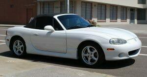 Sexy white sports car.